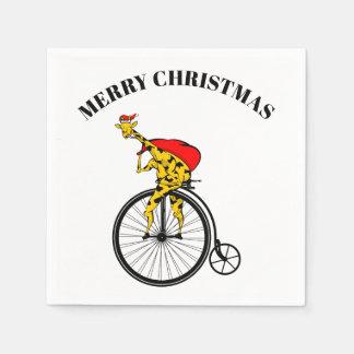Servilletas Desechables Navidad de Papá Noel de la jirafa