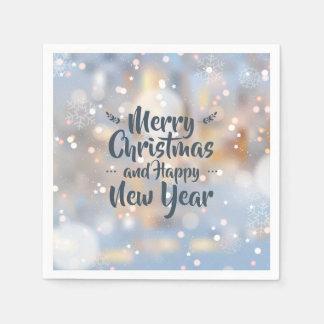 Servilletas Desechables Navidad elegante y servilleta de la Feliz Año