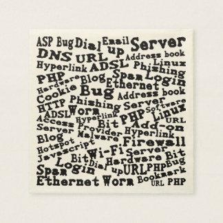 Servilletas Desechables nube de las palabras del Internet