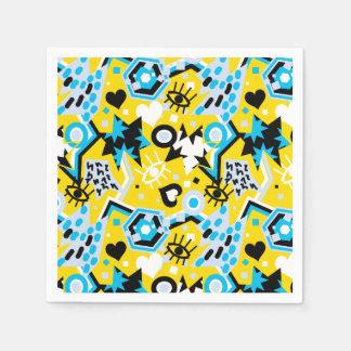Servilletas Desechables Observe el modelo amarillo brillante fresco del
