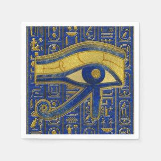 Servilletas Desechables Ojo egipcio del oro del lapislázuli de Horus - de