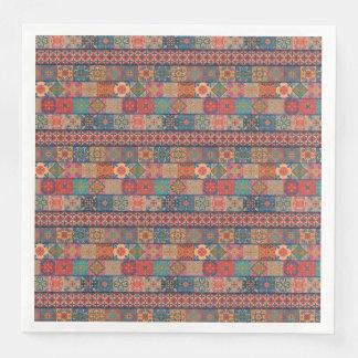 Servilletas Desechables Ornamento de Talavera del mosaico del vintage