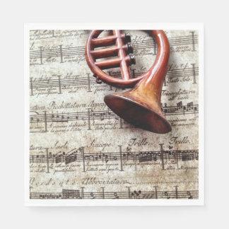 Servilletas Desechables Ornamento del cuerno en música