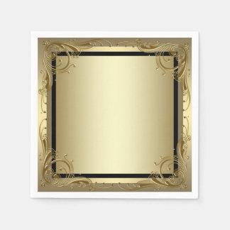Servilletas Desechables Oro elegante