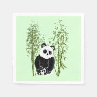 Servilletas Desechables Panda en bambú