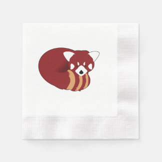 Servilletas Desechables Panda roja
