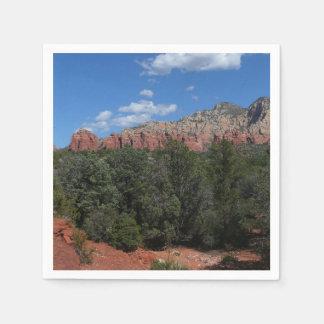 Servilletas Desechables Panorama de rocas rojas en Sedona Arizona