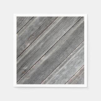 Servilletas Desechables Pared de madera resistida rústica