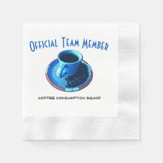 Servilletas Desechables Pelotón de consumición oficial del café el | del
