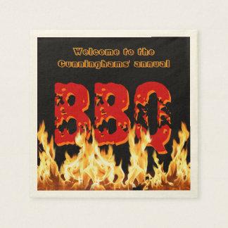 Servilletas Desechables (Personalizable) servilletas del Bbq en el fuego
