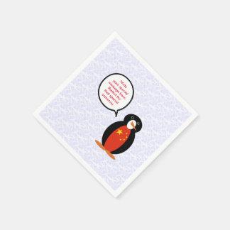Servilletas Desechables Pingüino del día de fiesta de la república popular