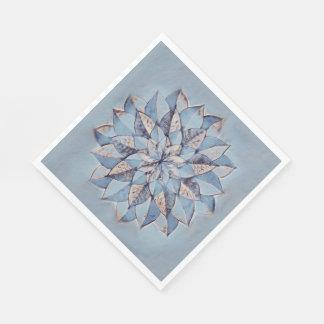 Servilletas Desechables Pintura abstracta floral azul de las servilletas