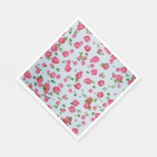 Servilletas Desechables Pintura dulce de los rosas de las servilletas de