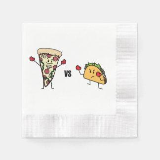 Servilletas Desechables Pizza de salchichones CONTRA el Taco: Mexicano