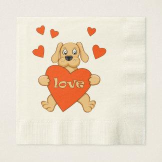 Servilletas Desechables puppy with love