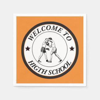 Servilletas Desechables Recepción a la High School secundaria