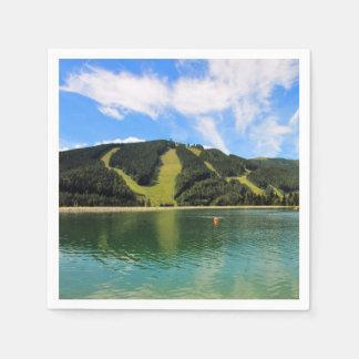 Servilletas Desechables Reflexión de los lagos mountain