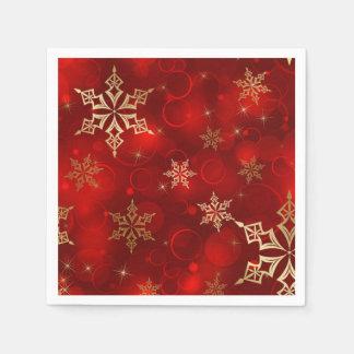 Servilletas Desechables Rojo y servilletas del día de fiesta del navidad