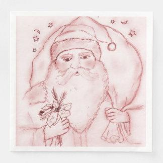 Servilletas Desechables Santa pasado de moda en arándano
