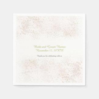 Servilletas Desechables Se ruboriza el boda elegante rasante