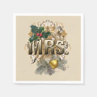 Servilletas Desechables Señora. Primer navidad