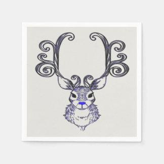 Servilletas Desechables Servilleta azul del fiesta de los ciervos del reno