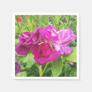 Servilletas Desechables Servilleta de papel con imagen color de rosa