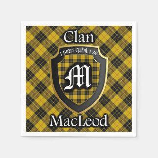 Servilletas Desechables Servilleta escocesa del tartán de MacLeod del clan