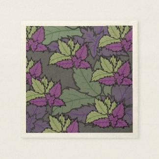 Servilletas Desechables servilleta floral y de hojas