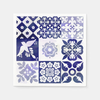 Servilletas Desechables Servilleta hermosa de Azulejos