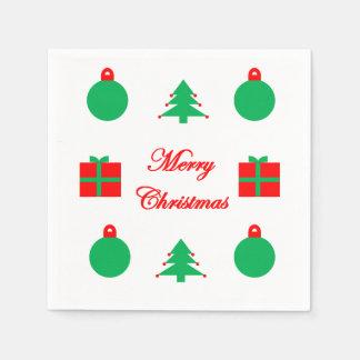 Servilletas Desechables Servilletas de las Felices Navidad