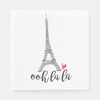 Servilletas Desechables Servilletas de París del la del la de Ooh