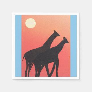 Servilletas Desechables Servilletas del cóctel con diseño de la jirafa