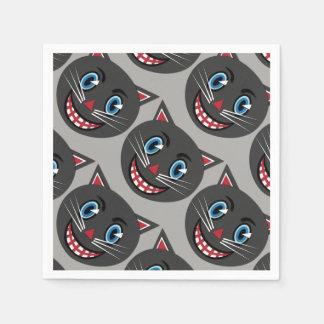 Servilletas Desechables Servilletas del gato negro del vintage