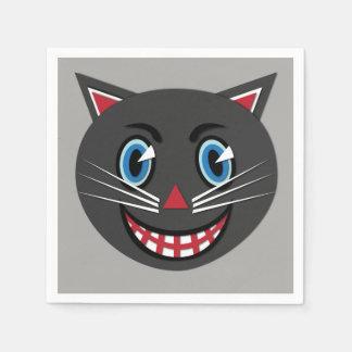 Servilletas Desechables Servilletas del gato negro del vintage intrépidas