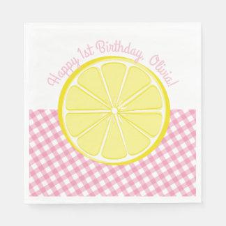 Servilletas Desechables Servilletas rosadas del fiesta de la limonada