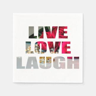 Servilletas Desechables Servilletas vivas de la risa del amor
