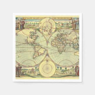 Servilletas Desechables Un nuevo mapp del atlas del mundo