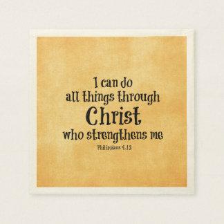 Servilletas Desechables Verso de la biblia: Puedo hacer todas las cosas a
