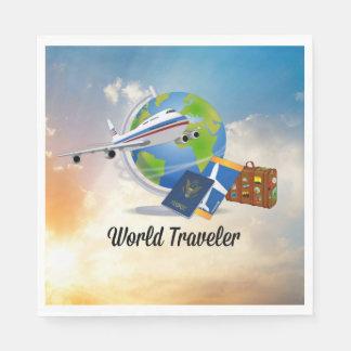 Servilletas Desechables Viajero de mundo