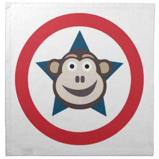 Servilletas estupendas del paño del mono