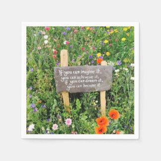 Servilletas florales inspiradas servilleta desechable