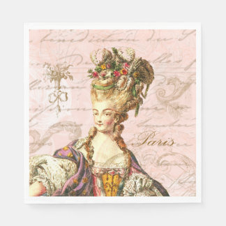 Servilletas francesas rosadas del fiesta de la servilleta de papel