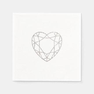 Servilletas geométricas de plata del boda del servilletas de papel