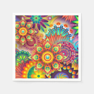 Servilletas intrépidas florales abstractas del servilleta de papel
