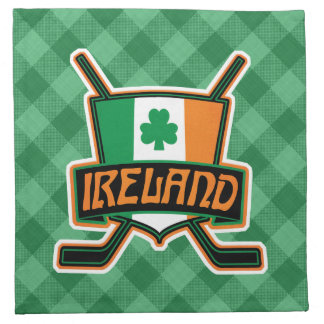 Servilletas irlandesas del logotipo de la bandera