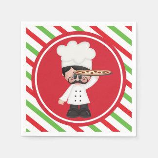 Servilletas italianas de la porción de la pizza servilletas de papel