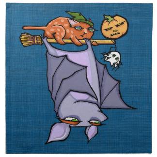 Servilletas malhumoradas del paño de Halloween del