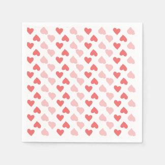 Servilletas minúsculas de los corazones servilleta desechable