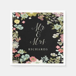 Servilletas personalizadas boda floral del jardín servilletas de papel